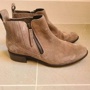 Paul Green cream swede ankle boots sz 6 NWT